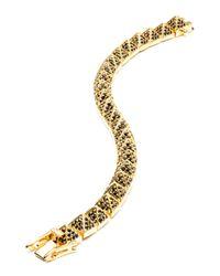 Eddie Borgo - Metallic Small Gold-plated Pave Crystal Pyramid Bracelet - Lyst