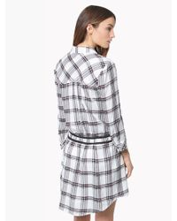 Veronica Beard | Purple Marcy Plaid Tie-waist Shirtdress | Lyst