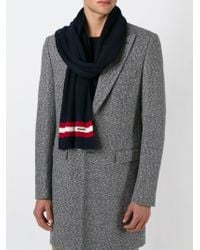 Bally - Blue Contrasting Stripe Scarf for Men - Lyst