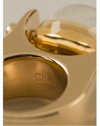 Chloé - Metallic Glass Ball Ring - Lyst