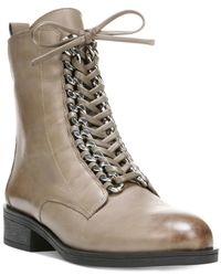 Fergie | Gray Nemo Lace Up Booties | Lyst