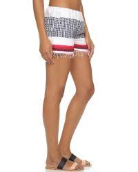 lemlem - Red Lula Shorts - Lyst