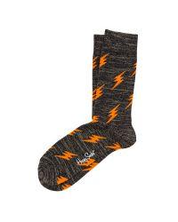 Happy Socks Orange Special Lightning Socks for men