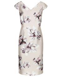 Jacques Vert Natural Floral Print Shift Dress