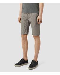 AllSaints - Gray Sodium Switch Shorts for Men - Lyst