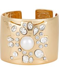 Kenneth Jay Lane - Metallic Women's Maltese Cross Hinged Cuff - Lyst