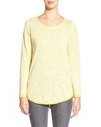Eileen Fisher - Yellow Organic Linen & Cotton Ballet Neck Tunic - Lyst