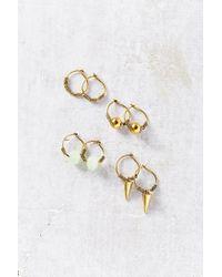 Urban Outfitters | Metallic Rocky Hoop Earring Set | Lyst