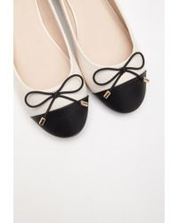 Forever 21 | Natural Contrast-toe Ballet Flats | Lyst