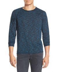 John Varvatos Blue Raglan Sleeve Crewneck T-shirt for men