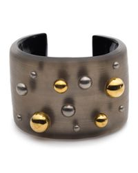 Alexis Bittar - Gray Two Tone Studded Cuff - Lyst
