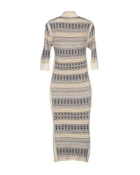 Blumarine | Gray Knee-length Dress | Lyst