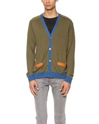 Marc By Marc Jacobs Green Silk Cardigan for men