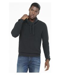 Express | Black Cotton Shawl Collar Sweater for Men | Lyst