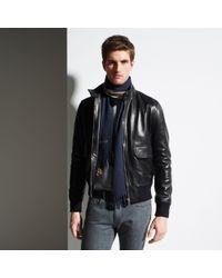 Bally - Blue Wool Jacquard Scarf for Men - Lyst