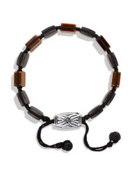 David Yurman - Brown Spiritual Beads Five-station Tile Bracelet With Tiger's Eye for Men - Lyst
