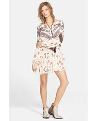 Free People | Natural 'From Your Heart' Print Dress | Lyst