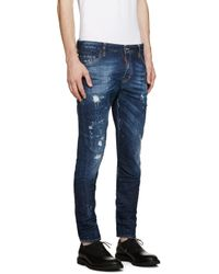 DSquared² - Blue Bocca Chicca Sexy Twist Jeans for Men - Lyst