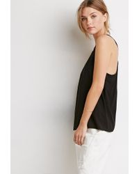 Forever 21 | Black Contemporary Braided Strappy-back Tank | Lyst
