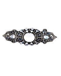 Monan - Black Large Gothic Style Ring - Lyst