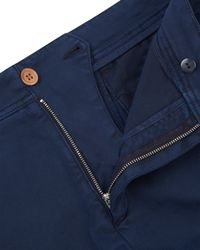 Jaeger | Blue Twill Garment-dyed Trousers for Men | Lyst