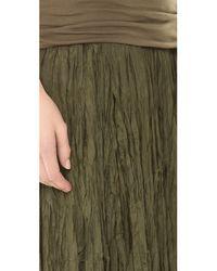 Donna Karan Green Fold Over Maxi Skirt