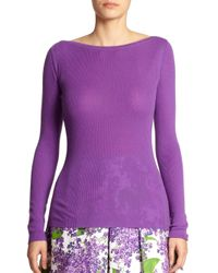 Michael Kors | Purple Cashmere Boatneck Sweater | Lyst