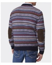 Barbour Martingale Fair Isle Sweater in Blue for Men | Lyst
