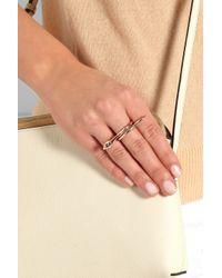 Iam By Ileana Makri - Pink Snake Rose Gold-Plated Diamond Ring - Lyst