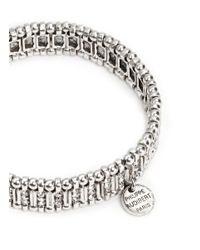 Philippe Audibert | Metallic Metal Bead Rhinestone Elastic Bracelet | Lyst
