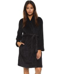 Calvin Klein | Fluffy Robe - Black | Lyst