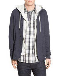 Howe | Blue 'm22' Hooded Knit Blazer for Men | Lyst