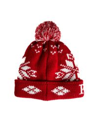 Penfield | Red Dumont Bobble Hat for Men | Lyst