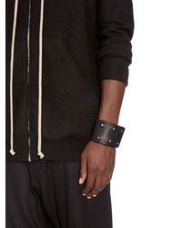 Rick Owens - Black Double Leather Cuff for Men - Lyst