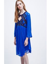 Free People All You Need Dress In Blue