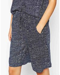 Just Female - Blue Basketball Shorts In Dot Print - Lyst