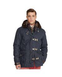 Polo Ralph Lauren Blue Oilcloth Firemans Coat for men