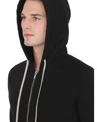 Rick Owens   Black Drkshdw Hooded Zip-up Cotton Sweatshirt for Men   Lyst