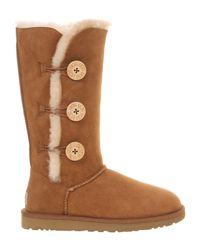 UGG - Brown ® Bailey Button Over The Knee Boots - Lyst