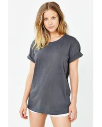 BDG | Black Pigment-dyed Unisex Wide Neck Tee | Lyst