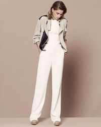 IRO Black Exclusive Leather Detail Linen Jacket