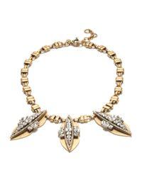 J.Crew Metallic Crystal Peapod Necklace