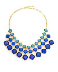 ABS By Allen Schwartz | Blue Sunset Blvd Cushion Three-row Necklace | Lyst