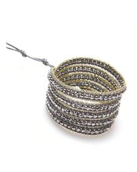 Nakamol - Multicolor Crystal & Delicate Chain Five Times Wrap-Silver/Gold - Lyst