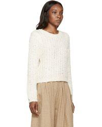 Chloé Natural Cream Mohair And Silk Sweater