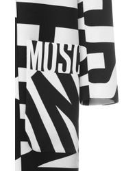 Moschino - White Print Long Jacket - Lyst