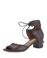 Tabitha Simmons - Black Tallulah Leather Sandals - Lyst