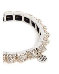 Philippe Audibert | Pink 'elies' Crystal Pyramid Elastic Bracelet | Lyst