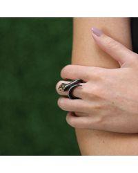 Arunashi Black Diamond Carbon Fiber Snake Ring