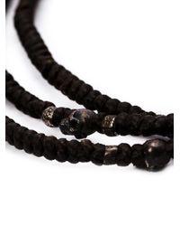 M Cohen | Brown Mini Skull Wrap Necklace for Men | Lyst